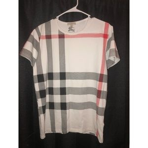 27ae045f7aad5 Burberry Shirts - Burberry Men's Crew Neck Check Graphic T-Shirt